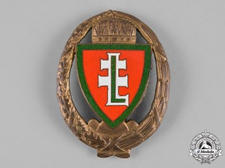 Hungary, Kingdom. A Levente Group Leader's Badge