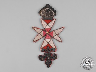 United Kingdom. A Knights Templar Freemasonry Badge, c.1780