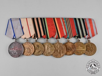 Russia, Soviet Union. A Bravery Medal Bar