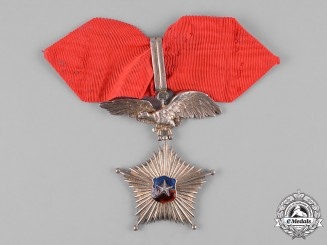 Chile, Republic. A Star of Military Merit for 20 Years Service, Armed Forces Division, Commander