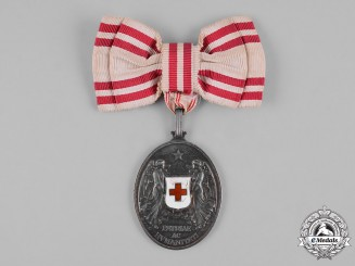 Austria, Empire. An Honour Decoration of the Red Cross, Silver Grade Medal for Ladies