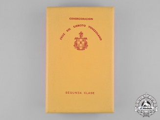 Venezuela, Republic. A Cross of the Venezuelan Army, II Class Case