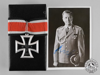Germany, Federal Republic. A Cased Knight's Cross of the Iron Cross, 1957 Version, to Wolfram Kurtz