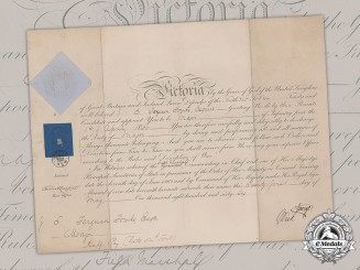 United Kingdom. A Commission Document to Major John (Jack) Fowke, 54th (West Norfolk) Regiment of Foot, 1866