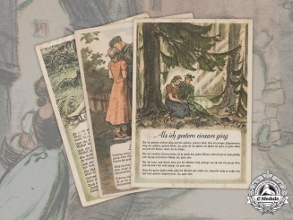 Germany, Third Reich. A Lot of German Folk Song Postcards, by Grieshaber & Säuberlich