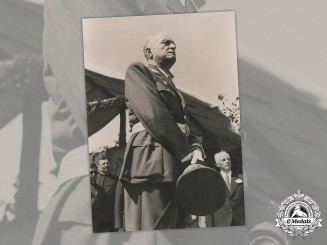 Croatia, Independent State. A Large Press Photo of Slavko Kvaternik, c.1942