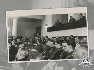 Croatia, Independent State. Large Press Photo of Croatian Parliament,  c.1942