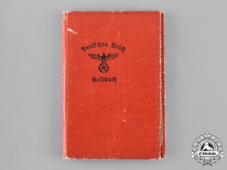 Germany, Heer. A Soldbuch to Leutnant Walter Reinhard, 110th Infantry Regiment