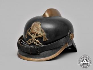 Germany, Imperial. A Fireman's Helmet, by Lehmann & Wundenberg