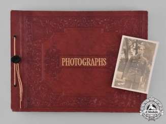 Canada. A RCAF Photo Album featuring an Original Photo of King George VI