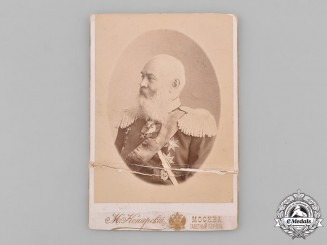 Russia, Imperial. A Studio Photo of an Army General