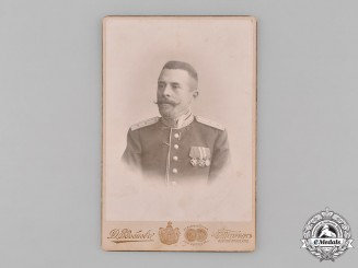 Russia, Imperial. A Studio Photo of Russian Army Officer