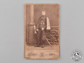Russia, Imperial. A Studio Photo of an Imperial Russian Hussar