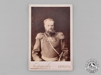 Russia, Imperial. A Studio Photo of an Imperial Russian Army Officer