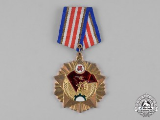China, People's Republic.. A People's Liberation Army General Political Department Scientific Medal, II Class 1957
