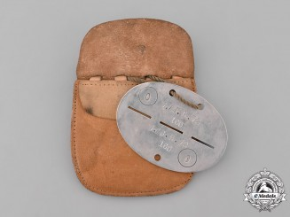 Germany, Heer. An 72nd Infantry Regiment Identification Tag with Pouch