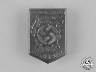 Germany, Third Reich. A NSBO Gau Rheinpfalz Day of Labour Badge