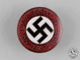 Germany, NSDAP. A Party Member's Buttonhole Badge, by Fritz Zimmermann