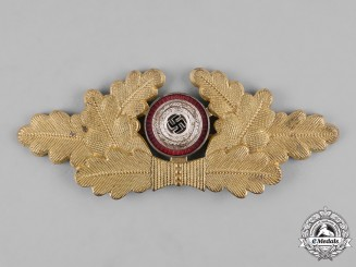 Germany, NSDAP. A Political Visor Cap Wreath Insignia, by Dr. Franke & Co. K.G.