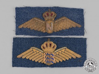 Denmark, Kingdom. Two Royal Danish Air Force Badges