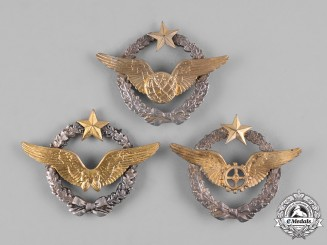 France, Republic. Three Air Force Qualification Badges