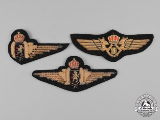 Belgium, Kingdom. Three Air Component Badges