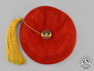 Spain, Fascist State. A Civil War Carlist Beret, by Antonio Elosegui
