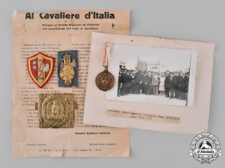 Italy, Fascist State. A Lot of Italian Cavalry Documents, Medals, and Insignia