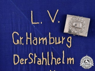 Germany, Weimar. A Stahlhelm Belt Buckle & Car Pennant