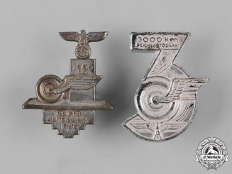 Germany, Third Reich. A Pair of Autobahn Commemorative Badges