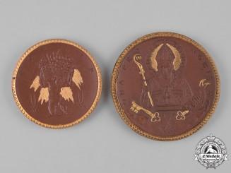 Germany, Weimar. A Pair of Weimar Era Ceramic Commemorative Medals, c.1921