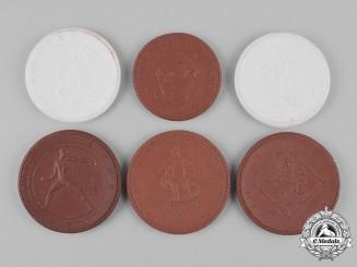 Germany, Weimar. A Lot of Weimar Era Ceramic Commemorative Medals, c.1922