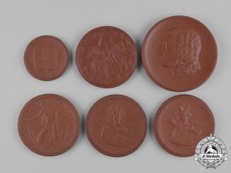Germany, Weimar. A Lot of Weimar Era Ceramic Commemorative Medals