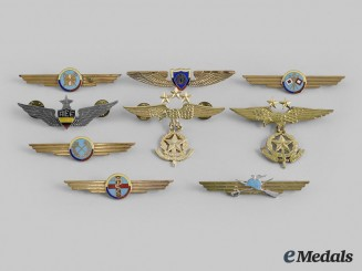 Colombia, Republic. Nine South American Air Force Badges