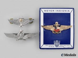 Peru, Japan, International. Lot of Three Badges