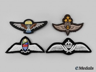 Tanzania, Saudi Arabia, Jordan, Nicaragua. Lot of Four Air Force/Parachutist Badges
