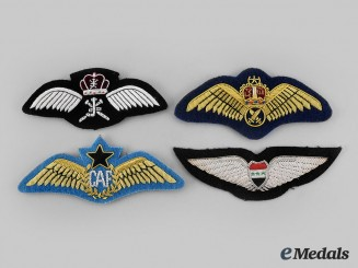 Ghana, Malaysia, Oman, Syria. Lot of Four Air Force Pilot Badges