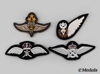 Oman, Pakistan, Saudi Arabia. Lot of Four Badges