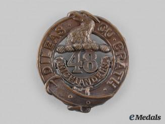 Canada, CEF. A 48th Highlanders of Canada Glengarry Badge, by Ellis Bros.