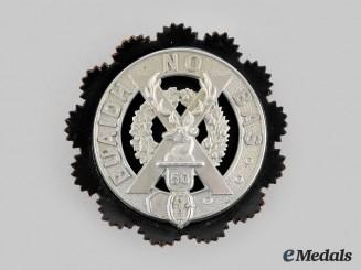 Canada, CEF. A 50th Regiment (Gordon Highlanders of Canada) Glengarry Badge, c.1913-1920