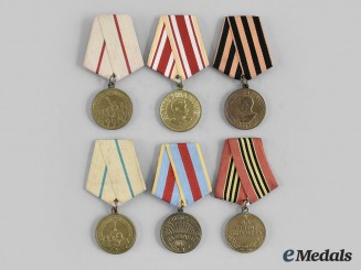 Russia, Soviet Union. A Lot of Six Second War Veteran's Medals