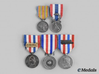 France, III Republic. Five Commemorative Medals