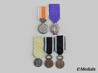 France, III Republic. Five Honour-Based Awards
