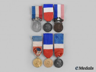 France, III Republic. Six Ministry Honour Medals