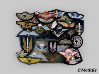 International. A Lot of Twenty-Nine Paratrooper Badges