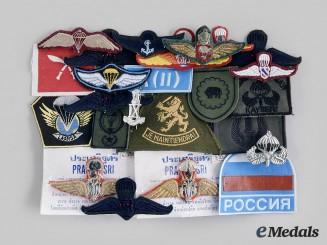 International. A Lot of Twenty-Four Paratrooper Badges