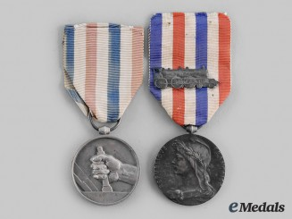 France, III Republic. Two Medals of Honour for Railway Service