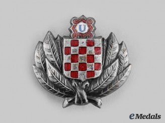 Croatia, Independent State. A Ustasha Treasure Guard Badge