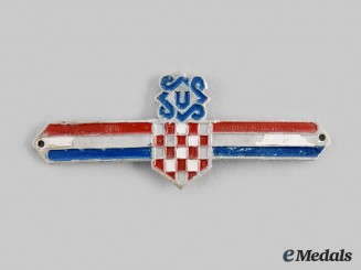 Croatia, Independent State.  A Ustasha Leaders Insignia