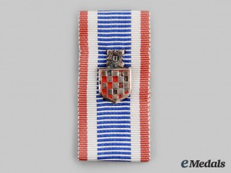 Croatia, Independent State. A Commemorative War Badge